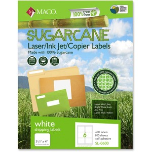Maco Printable Sugarcane Mailing Labels MACMSL0600