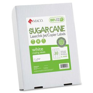 Maco Printable Sugarcane Mailing Labels MACMSL3000B