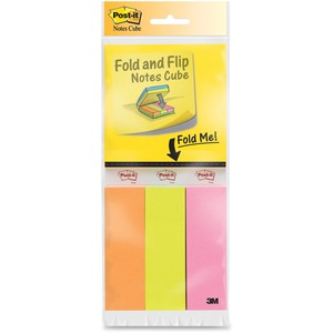 Post-it Fold & Flip Note Pads/Page Marker Cube MMM2055FC1