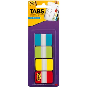 "Post-it 1"" Solid Color Self-stick Tabs MMM686ALYR1IN"