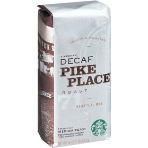 Starbucks Decaf Pike Place Roast 1lb Ground Coffee Ground SBK11029358