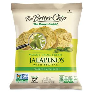 Sugar Foods Better Chip Jalapenos/Salt Corn Chips SUG55931