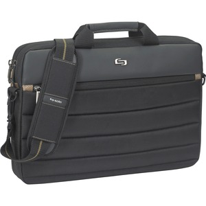 "Solo Carrying Case (Briefcase) for 15.6"" Notebook - Black, Tan USLPRO1464"