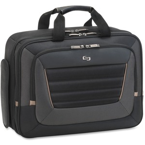 "Solo Carrying Case (Briefcase) for 16"" Notebook - Black, Tan USLPRO3404"