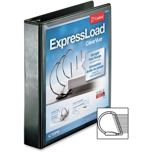 Cardinal ExpressLoad ClearVue Locking D-Ring Binder CRD49111