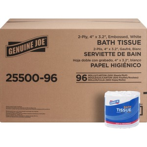 Genuine Joe 2-Ply Standard Bath Tissue Rolls GJO2550096