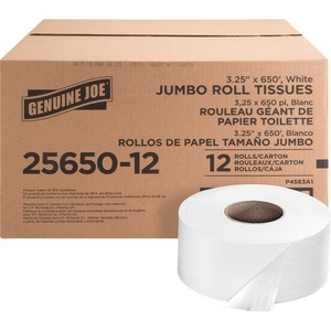 Genuine Joe 2-ply Jumbo Roll Dispensor Bath Tissue GJO2565012