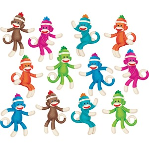 Trend Sock Monkey Solids Classic Accents, 36 Pieces, Multi TEPT10608