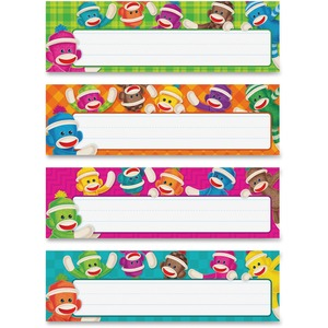 Trend Sock Monkeys Coll. Desk Topper Name Plates TEPT69912