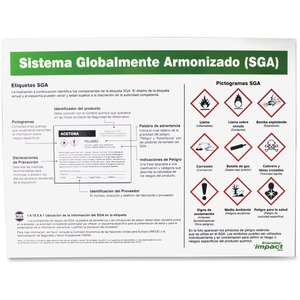 "GHS Label Guideline Identification Poster - 24"" W x 18"" H"