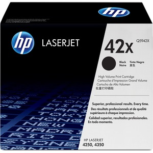 HP 42X (Q5942X) High Yield Black Original LaserJet Toner Cartridge HEWQ5942X