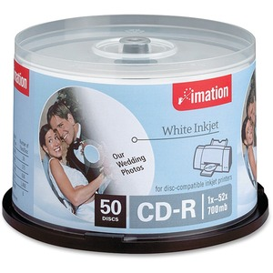 Imation CD Recordable Media - CD-R - 52x - 700 MB - 50 Pack Spindle IMN17304