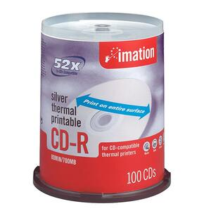Imation CD Recordable Media - CD-R - 52x - 700 MB - 100 Pack Spindle IMN17276