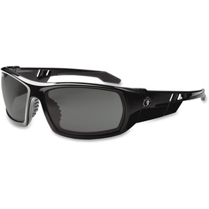 Ergodyne Skullerz® Glasses - Odin - Smoke Lens with Fog-Off - Black Full Frame