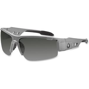 Ergodyne Skullerz® Glasses - Dagr -Smoke Lens - Gray Half Frame
