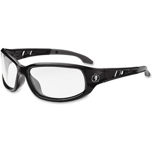 Ergodyne Skullerz® Glasses - Valkyrie - Clear Lens with Fog-Off - Black Medium Frame