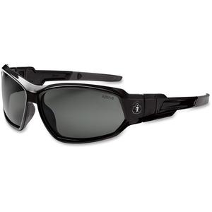 Ergodyne Skullerz® Glasses/Goggles - Loki - Smoke Lens with Fog-Off - Black Full Frame