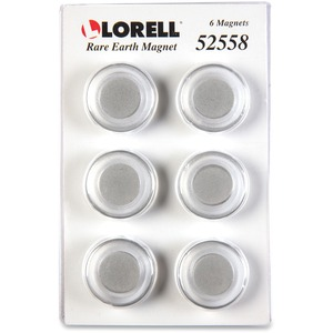 Lorell Round Cap Rare Earth Magnets - 1.2