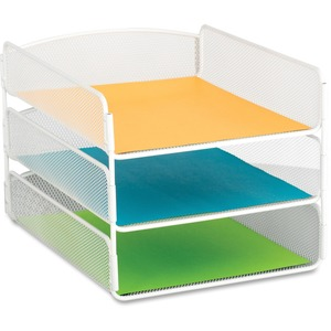 Safco Onyx Letter Tray - 3 Compartment(s) - 3 Tier(s) - 8