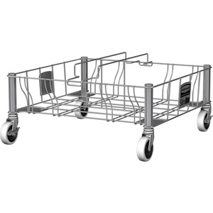 Rubbermaid Commercial Stainless Steel Double Dolly - 200 lb Capacity - 4 Casters - 3