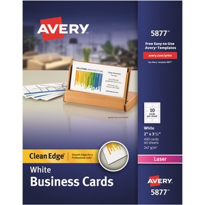 Avery Clean Edge Business Card AVE5877