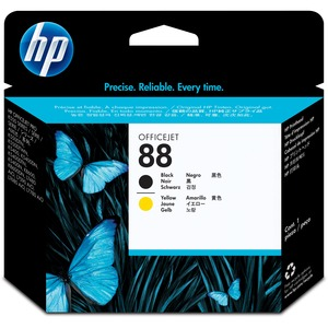 HP 88 Printhead - Black, Yellow HEWC9381A
