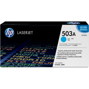 HP 503A Cyan Original LaserJet Toner Cartridge HEWQ7581A