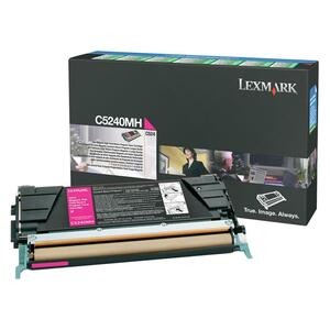Lexmark Magenta High Yield Return Program Toner Cartridge LEXC5240MH