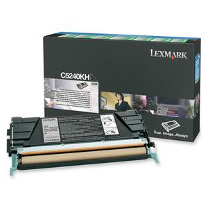 Lexmark Black High Yield Return Program Toner Cartridge LEXC5240KH