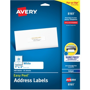 Avery Easy Peel White Mailing Label AVE8161