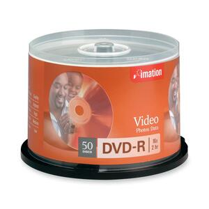Imation DVD Recordable Media - DVD-R - 16x - 4.70 GB - 50 Pack Spindle IMN17341