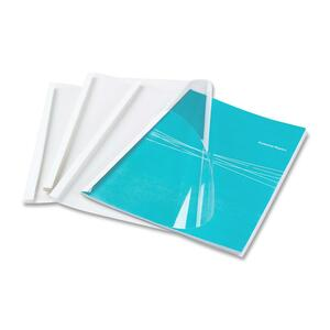 "Fellowes Thermal Presentation Covers - 3/8"", 90 Sheets, White FEL52560"