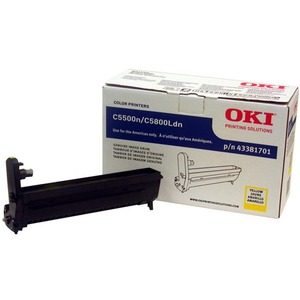 Oki Yellow Image Drum For C5500n and C5800Ldn Printers OKI43381701