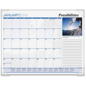At-A-Glance Inspirational Monthly Desk Pad Calendar AAGDMD10032