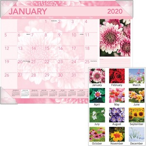 At-A-Glance Antique Floral Desk Pad Calendar AAGDMD13532