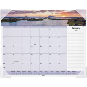 At-A-Glance Images Of The Sea Monthly Desk Pad Calendar AAGDMD14132