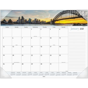 At-A-Glance Harbor Views Monthly Desk Pad Calendar AAGDMD14532