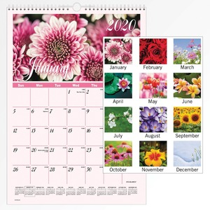 At-A-Glance Flower Garden Monthly Wall Calendar AAGDMW30028