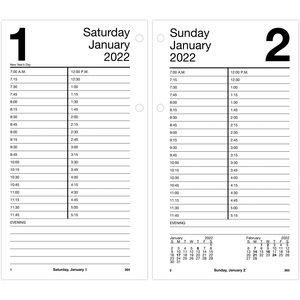 At-A-Glance Large Daily Desk Calendar Refill AAGE21050