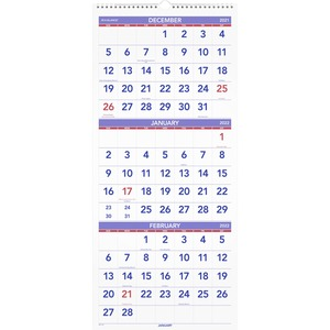 At-A-Glance 3 Months Reference Wall Calendar AAGPM1128
