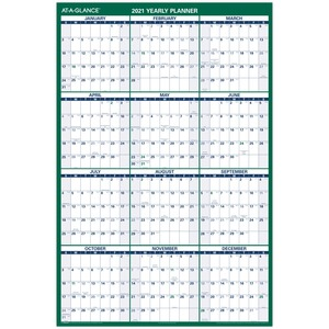 At-A-Glance Yearly Erasable Vertical Wall Planner AAGPM31028
