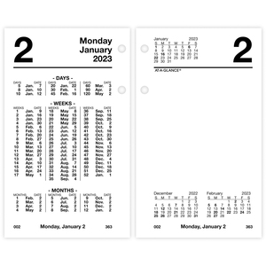At-A-Glance Financial Loose-Leaf Desk Calendar Refill AAGS17050