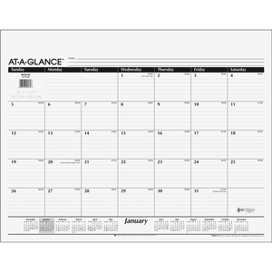 At-A-Glance Recycled Desk Pad Calendar Refill AAGSK2250