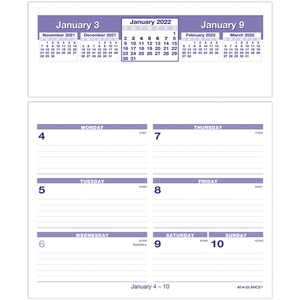 At-A-Glance Flip-A-Week Desk Calendar Refill AAGSW705X50