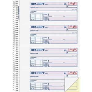 Adams Wire Bound Money/Rent Receipt Books ABFSC1182