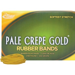 Alliance Rubber Pale Crepe Gold Rubber Band ALL20165