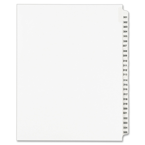 Avery Legal Exhibit Reference Divider AVE01342