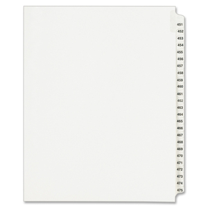 Avery Legal Exhibit Reference Divider AVE01348