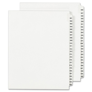 Avery Side Tab Legal Exhibit Index Dividers AVE01358