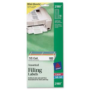 Avery Filing Mini-Sheet Label AVE2180